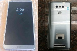 LG G6 Leaked Image, Front and Rear