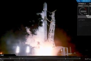 SpaceX Falcon 9 finally lifts off at 6:17 PST deploying three satellites at 515 Km altitude