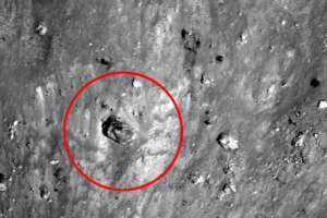 An UFO researcher spotted two mysterious unidentified objects on the lunar surface