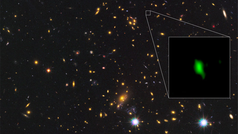Astronomers have found the oldest oxygen in the Universe