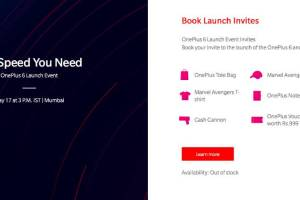 oneplus 6 launch invite out of stock