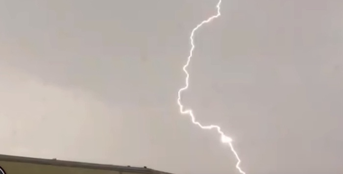 Alien spacecraft travelling through lightning bolt, UFO video goes viral