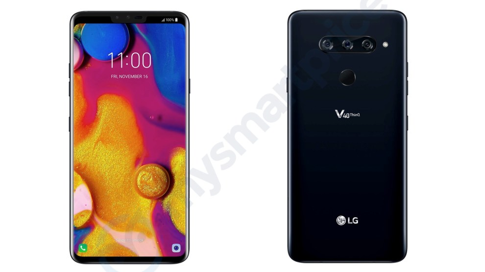 LG V40 ThinQ with five cameras might be released on November 16