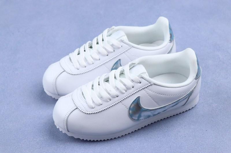 Nike Cortez Blanco/Plateado