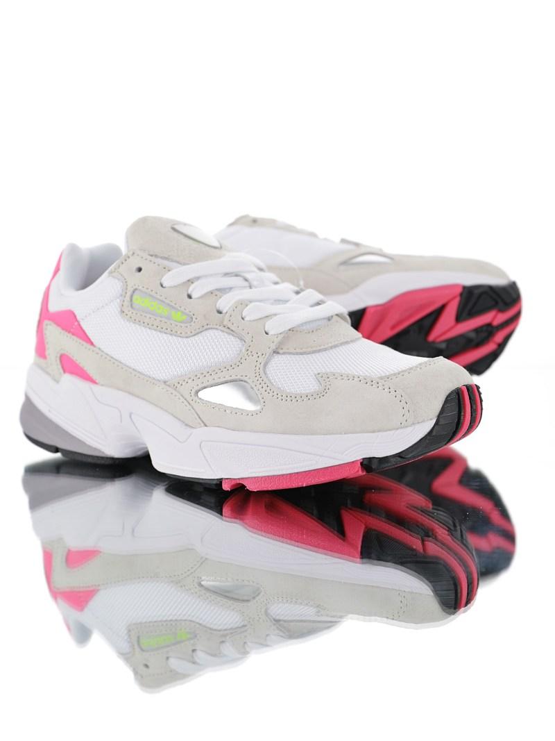 Adidas Falcon Blanco y Rosa