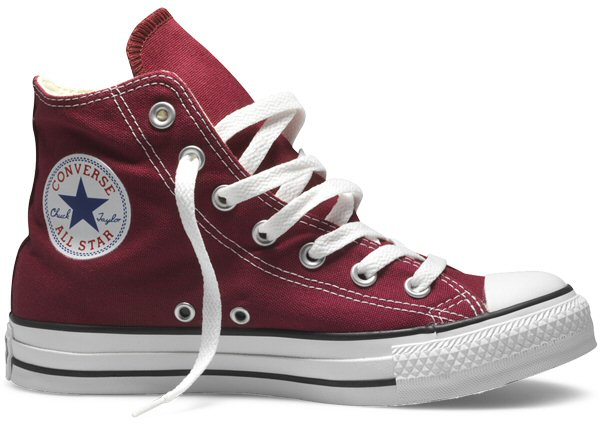 Converse All Star 1970s Burdeos
