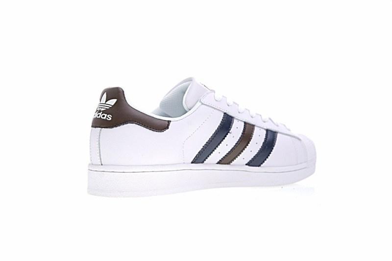 Adidas Superstar Blanco Con Rayas Mate