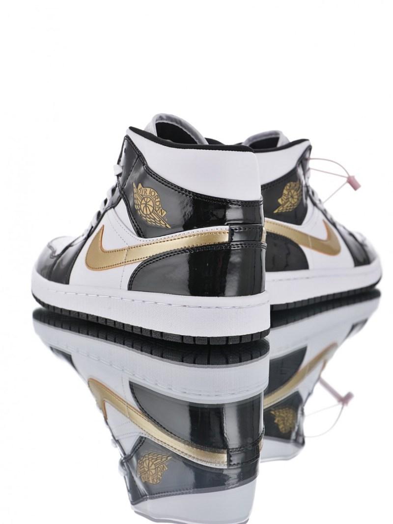 Air Jordan 1 Mid Patent Gold