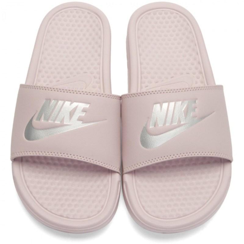 Nike Benassi JDI Rosa Metálico