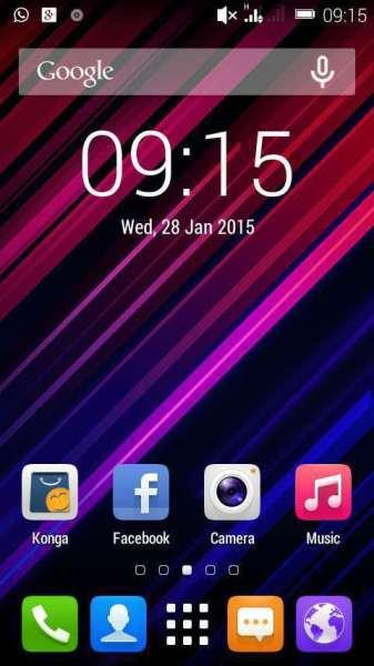 Infinix X507 Screen shot
