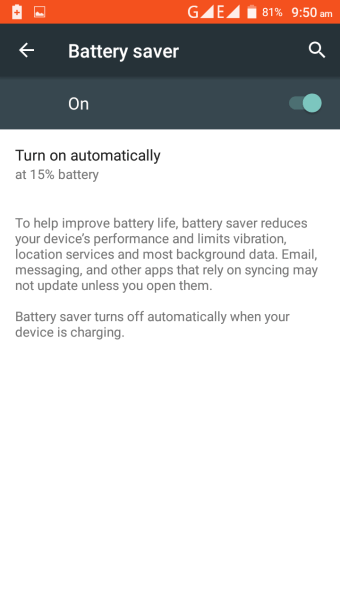 Cubot Note S Battery Saving