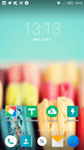 XUI Home Screen