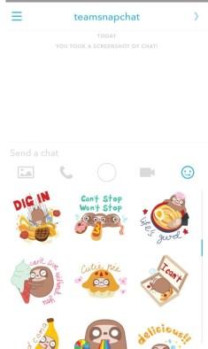 Snapchat chatting