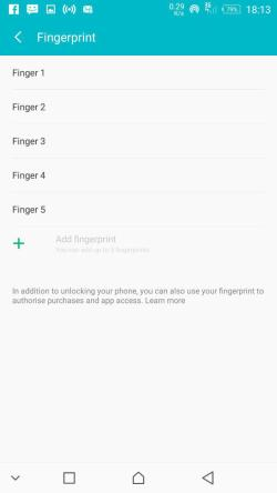 Fingerprint Scanners Infinix Note 3