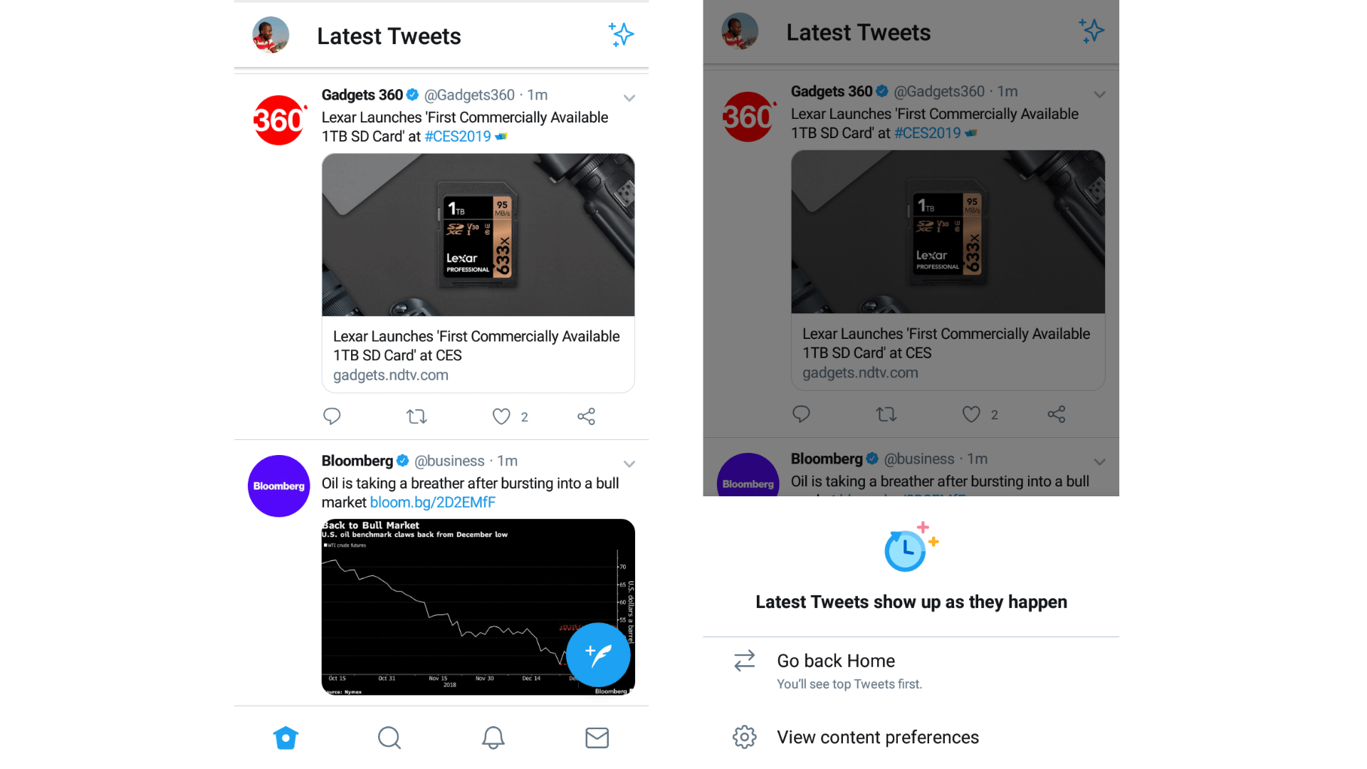 Twitter for Android Receives 'Sparkle Button' for