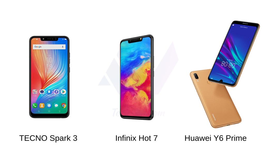 Infinix Hot 7 vs TECNO Spark 3 vs Huawei y6 Prime 2019