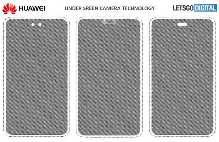 Huawei Under Display Camera Patent Filed
