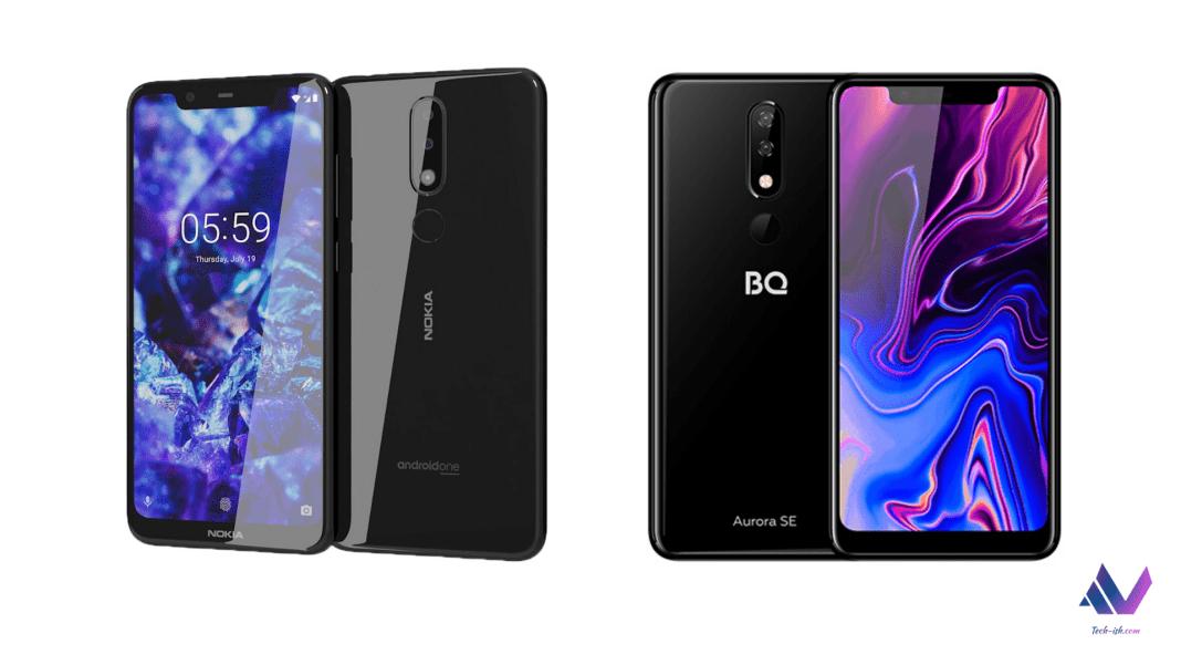 Nokia 5.1 PLus BQ Aurora SE