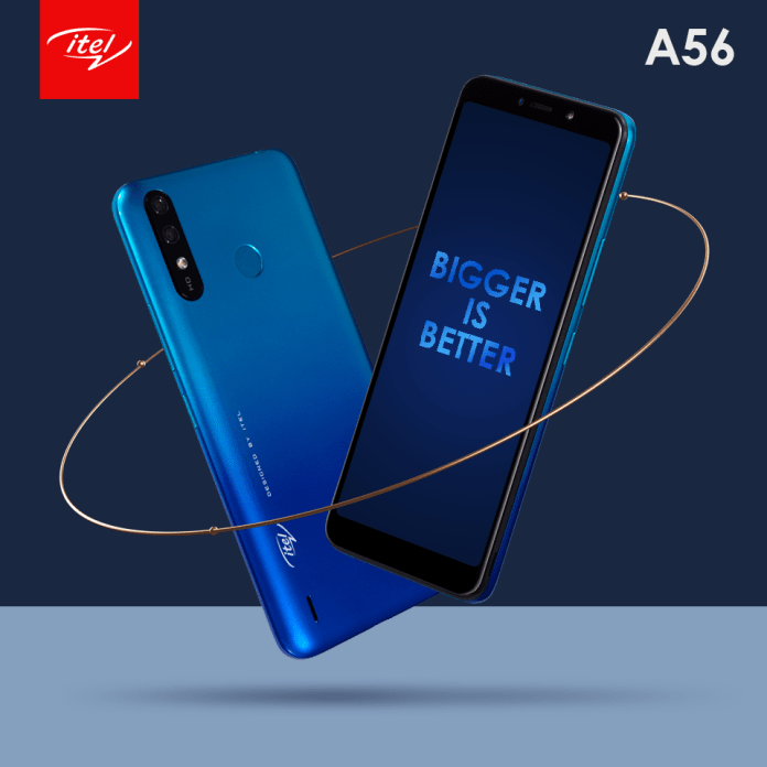 itel's new ultra-budget A56 with dual cameras now in Kenya