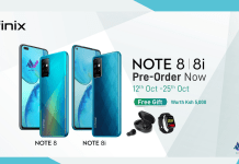 The upcoming Infinix NOTE 8 series will seemingly be launching quite early. The company has announced pre-orders in Kenya will start on October 12th and run through to October 25th. Those preordering stand to win free gifts worth KES. 5,000 including wireless earbuds, and a smartwatch.