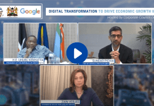 Google CEO commits $10 Million for Economic Recovery after Dialogue with Kenya's President