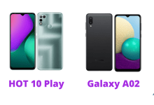 Infinix HOT10 Play vs Galaxy A02