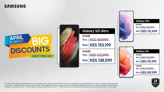 Samsung Galaxy S21 Discounts Kenya