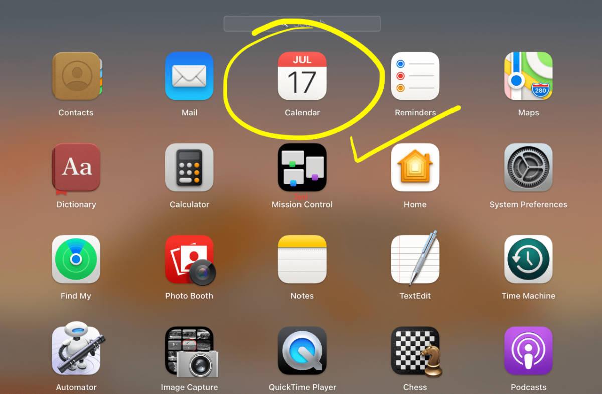 Apple Calendar App on the Mac is really good