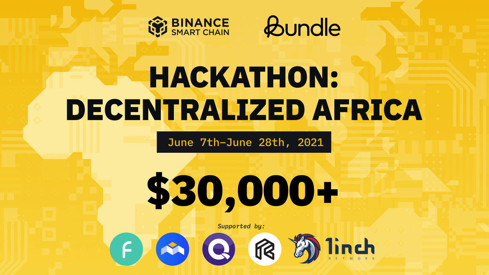 Binance Hackathon participants stand to win up to USD 30,000