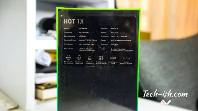 Infinix HOT 10i Android Go Phone Officially Launched