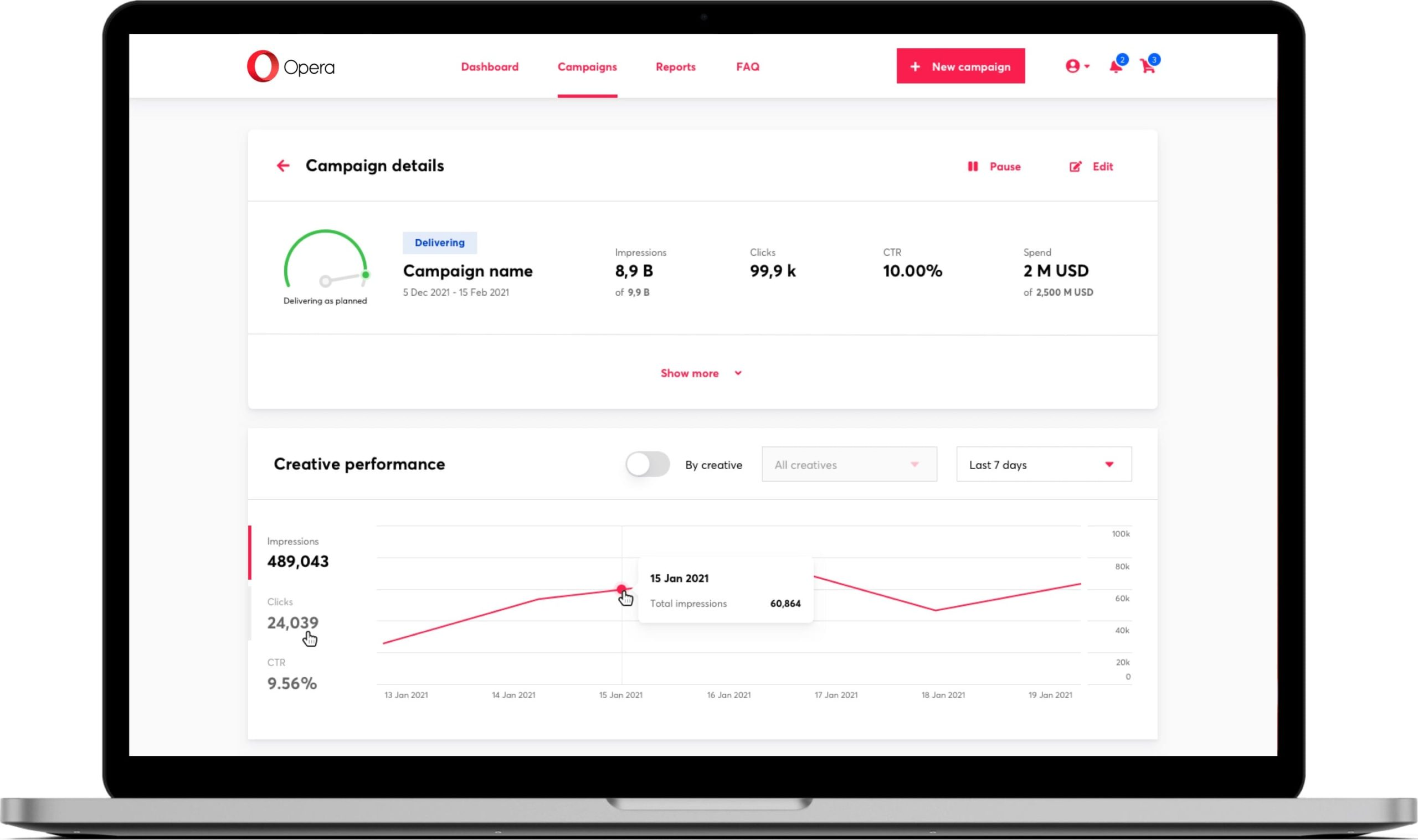 Opera launches new self-serve Ad Manger targeting Publishers