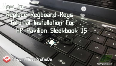 Fix Replace Keyboard Keys Tutorial Installation HP Pavilion Sleekbook 15