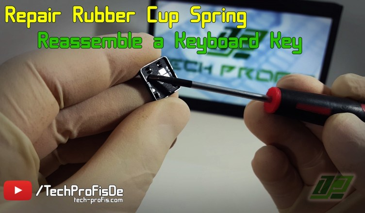 Laptop Keyboard Repair - Rubber Cup Spring fix MSI Medion Akoya