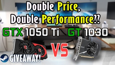 Double the Price Double the Performance GTX 1050Ti vs GT 1030 Review Benchmark Steam Key Giveaway