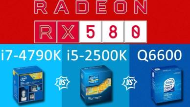 Radeon RX580 (4GB) vs i7-4790K vs i5-2500 vs Q6600