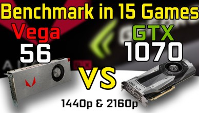 RX VEGA 56 vs GTX 1070 Test in 15 Games Benchmark Comparison i7-6800K