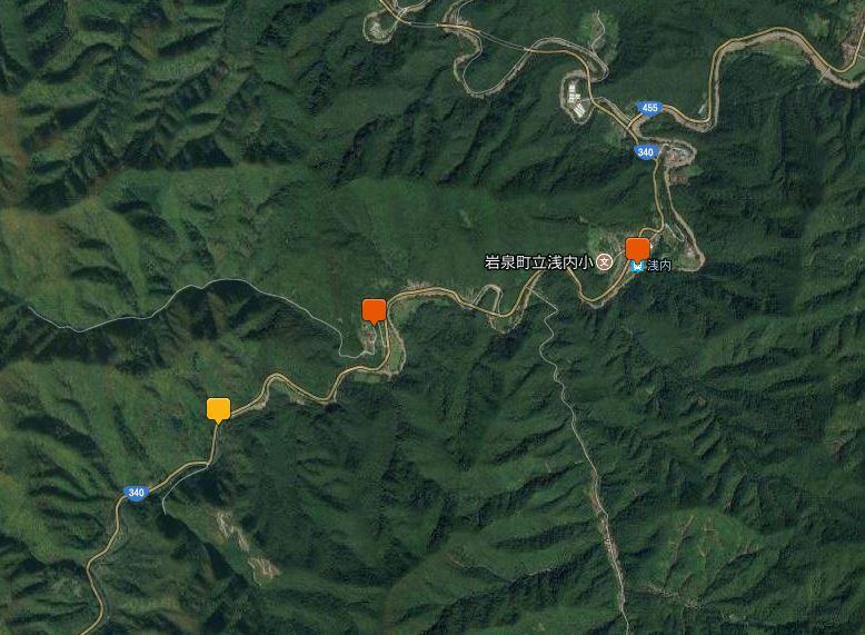 岩泉線撮影地地図