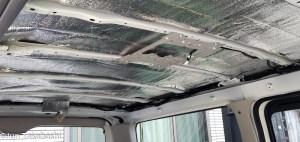 Install heat insulation on HIACE VAN