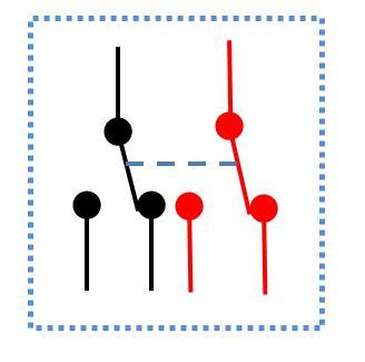 2極双投型スイッチの回路図