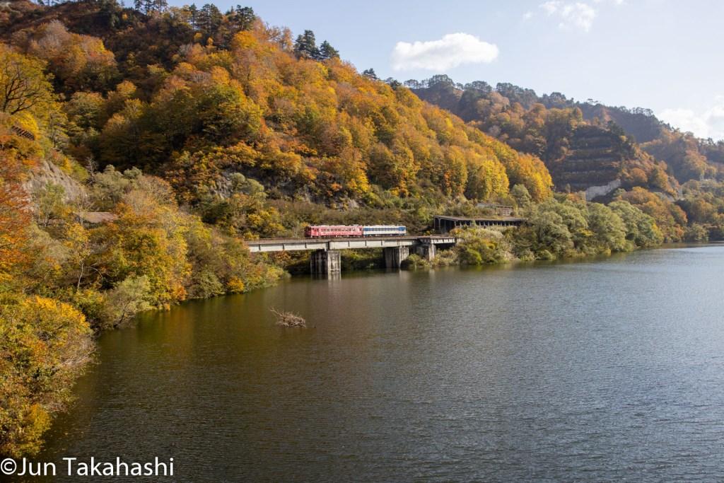 只見線絶景撮影地 旧田子倉駅付近