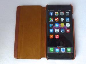 Kavaj Dallas iPhone 6 Plus Leather Wallet Case: Front Open View
