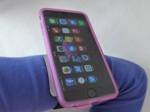 ZeroChroma Armband with VarioProtect case for iPhone 6 Plus on my arm in portrait orientation