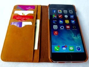 Artisan Wallet Case for iPhone 6 Plus: Open View with Cards