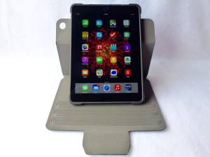 TurnFolio with Keyboard for iPad Air 2- Vertical Stand Orientation