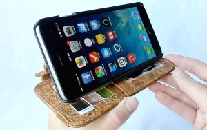 Doc Artisan Sport Wallet Case for iPhone 6 Plus- Stand View