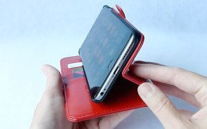 Dreem Fibonacci Wallet for iPhone 6 Plus- Side Stand View