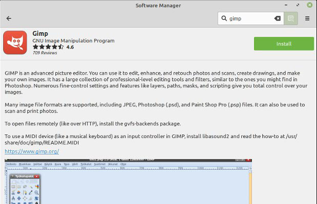 How to installing GIMP on Linux Mint Ver.19.3 Tricia