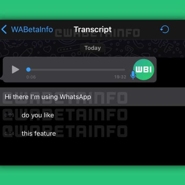 Whatsapp transcription