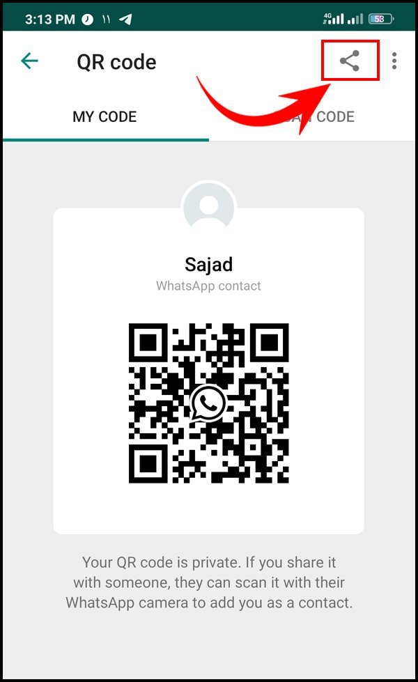 Share WhatsApp QR Code with others