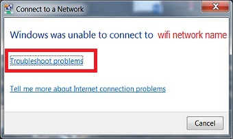 Fix Windows error was Unable to Connect to wifi Network